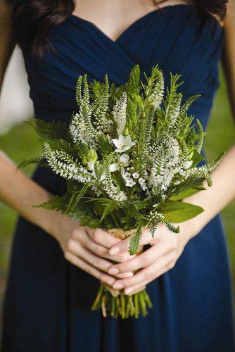 bridesmaid wedding bouquets small white flowers and greenery woodland fields photography