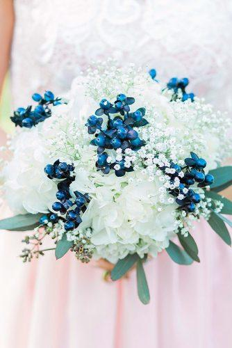bridesmaid wedding bouquets white and blue flowers erika mills photography