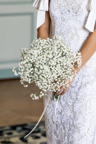 bridesmaid wedding bouquets with white baby breath sarah falugo
