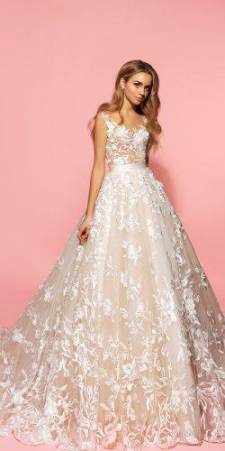 eva lendel gentel lace ball gown sandy