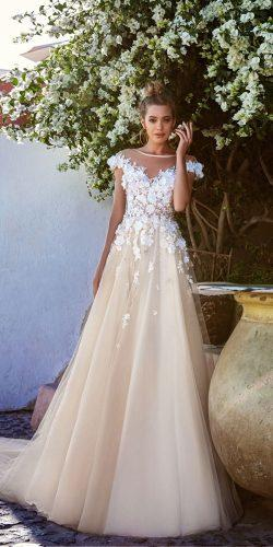 eva lendel gentle ball gown with tender shoulder