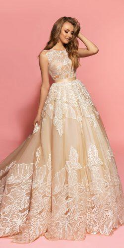 eva lendel lace ball gown terra