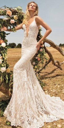 gala by galia lahav v neck wedding dresses slinky silhouette and a combination of antique pink and sparkly ivory lace