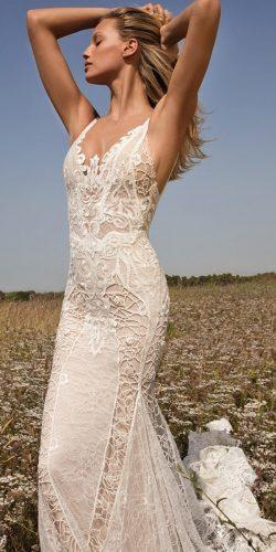 vintage wedding gowns made of an exquisite lace with embroidered features