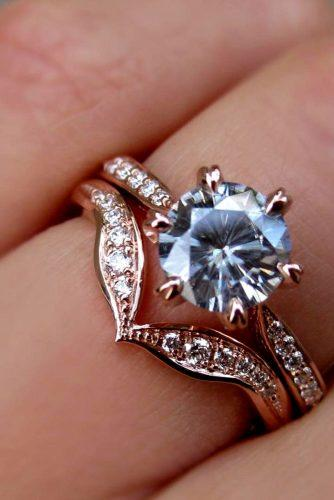 moissanite engagement rings greymoissanite round cut engagement ring set