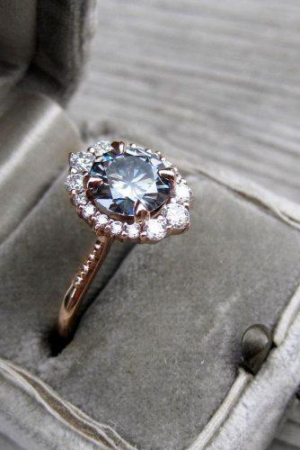moissanite engagement rings greymoissanite round cut halo engagement ring