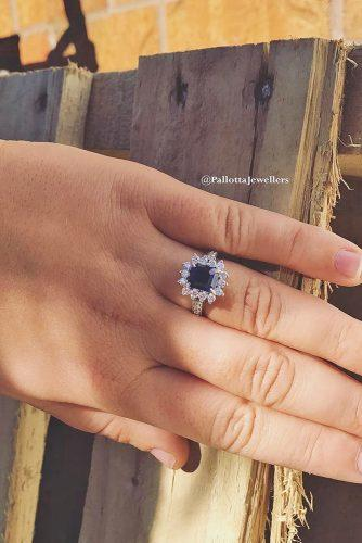vintage sapphire gemstone engagement rings with accent diamonds 2