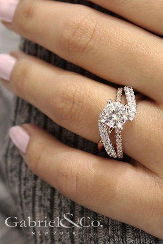 top engagement ring ideas best round cut diamond unique pave band
