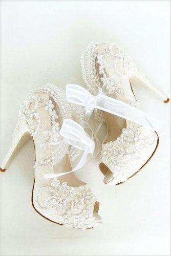 white wedding shoes lace heels lucy davenport