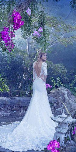 open v back lace angelozzi wedding dresses with train
