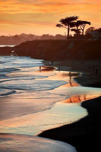 best honeymoon spots california beach sunset