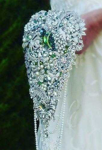 brooch wedding bouquets casacade broch bouquet brooch bride