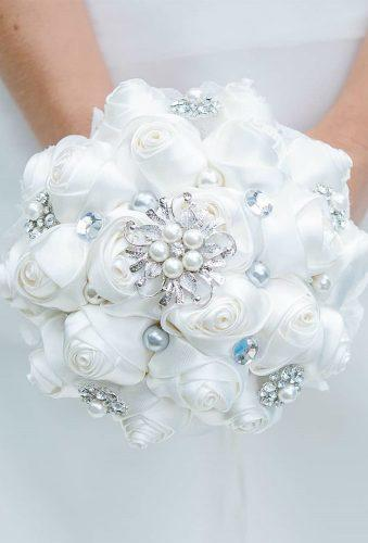 brooch wedding bouquets white broch bouquet brooch bride