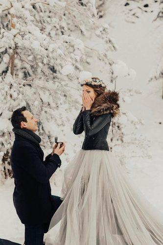 elegant winter marriage proposal