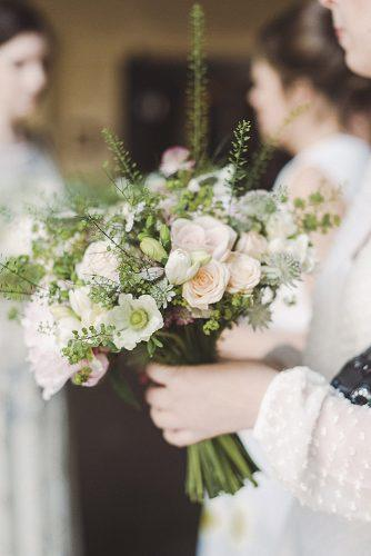 gorgeous summer wedding bouquets delicate little bouquet with pink roses and greens razia jukes photography