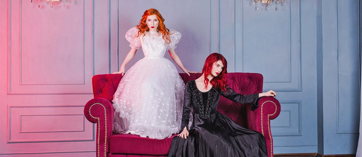 gothic wedding dresses black and white