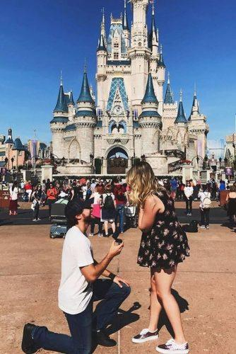 marriage proposal disneyland back to childhood proposal