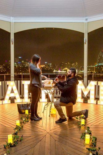 marriage proposals at home with candles