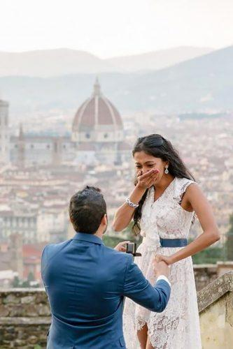 marriage proposal Italy on the roof