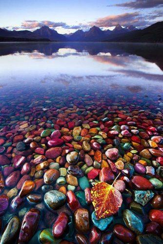 nice honeymoon spots in us incredible montana beach with colored stones