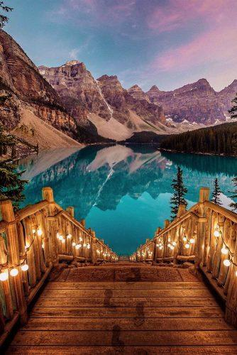 best honeymoon destinations moraine lake alberta canada
