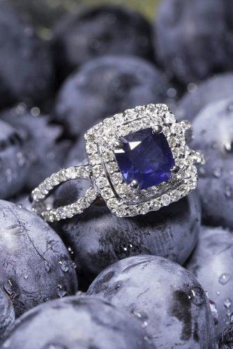 white gold sapphire halo engagement rings with micropave band zales