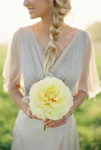 single bloom wedding bouquets Yellow Single Boouquet Jose Villa