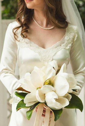 single bloom wedding bouquets big magnolia youareraven