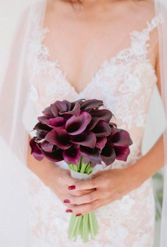 single bloom wedding bouquets marsala lilies capri moments
