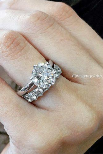 solitaire simple round white gold engagement rings