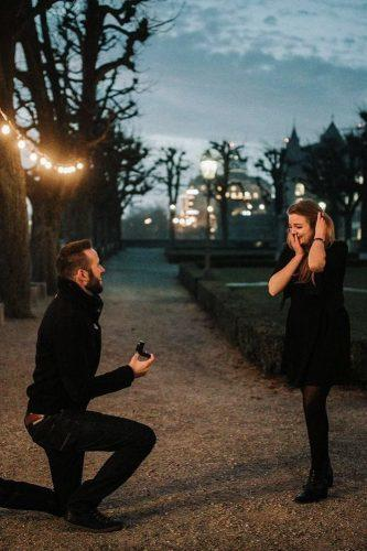 unexpected outdoor marriage proposal