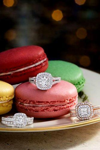 zales engagement rings on macaroons