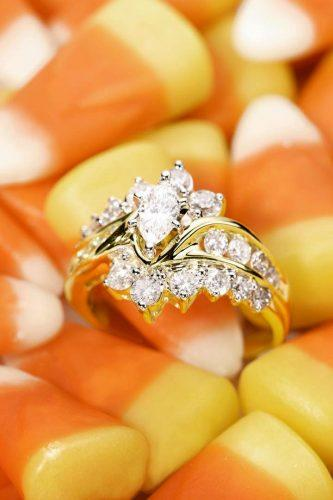 zales engagement rings on small yellow pieces