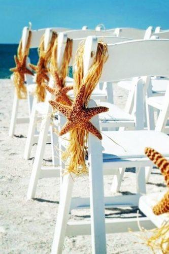 beach wedding decoration ideas chairs with a starfish weddingfashionist tr via instagram