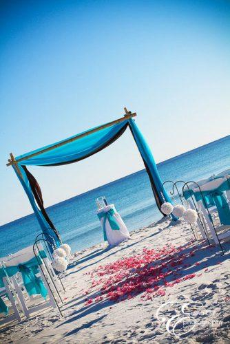 blue wedding theme arch beach wedding edina kiss