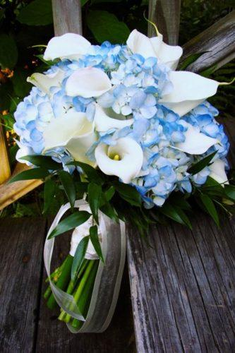 blue wedding theme blue bouquet white kallas vermont country flowers