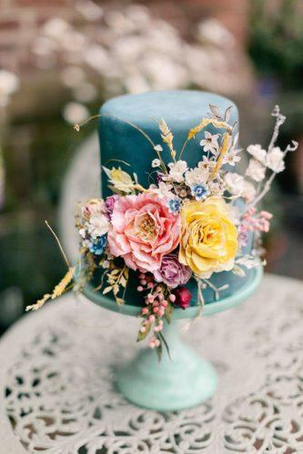 blue wedding theme blue cake with flowers jo bradbury