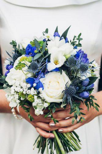 blue wedding theme blue navy ivory bouquet jonathan kinnear