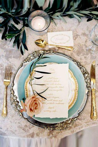 blue wedding theme blue wedding table decor with pale rose and greenary