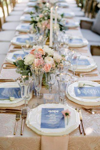 blue wedding theme blue wedding table setting