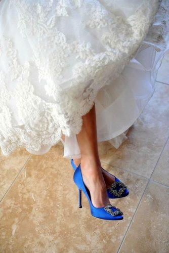 blue wedding theme bridal blue shoes