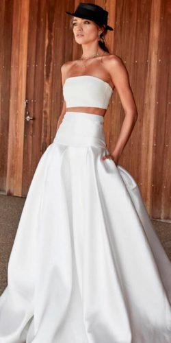 breaking the rules bridal separates simple trendy strapless neck a line skirt chosen by one day