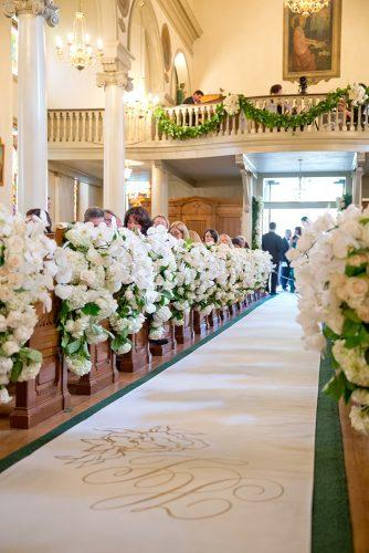 church wedding decorations breathtaking aisle with white roses karlisch studio