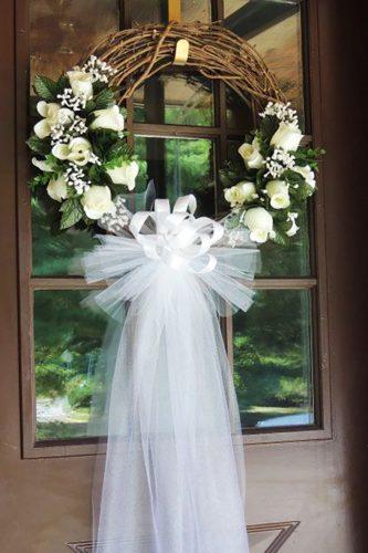 church wedding decorations cute flowers for church-door sinfulsweetsbyrachel