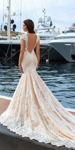 crystal design 2017 wedding dresses collection mermaid low back lace bridal gown marchesa