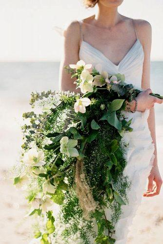 greenery wedding cascading bouquet