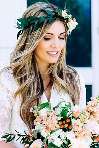 greenery wedding hairstyle ideas