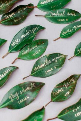 greenery wedding herb escort cards