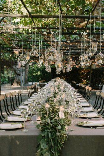 greenery wedding table setting decor
