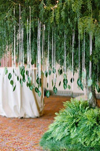 greenery wedding unique wedding escort cards idea with leaves